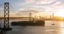 Container Ship Passing San Francisco Bay Area