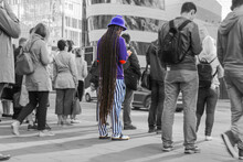 A Young Man With Dreadlocks Am...