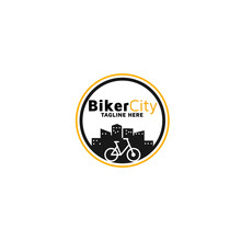 Biker City Vector Logo Design ...
