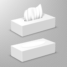 Box With White Paper Napkins. ...