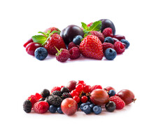Fruits, Berries Isolated On Wh...