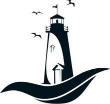 Lighthouse Silhouette Vector I...