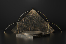Black Marble Product Display O...