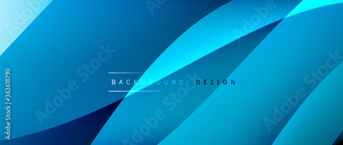 Fototapeta Fluid gradient waves with shadow lines and glowing light effect, modern flowing motion abstract background for cover, placards, poster, banner or flyer obraz