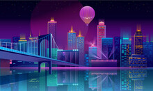 Vector Background With Night C...