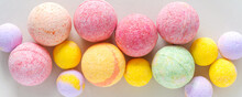 Multicolored Bath Bombs On A G...