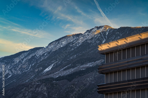 Fototapeta Scenic View Of Snowcapped Mountains Against Sky