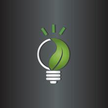 Light Bulb Icon Symbol With Le...