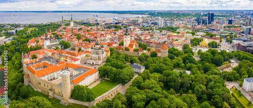 Tallinn is a medieval city in Estonia in the Baltics Canvas Print