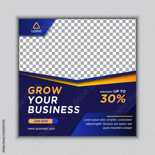 Fototapeta Business Marketing Agency Square Banner Social Media Post Instagram Banner for Business Promotion obraz na płótnie