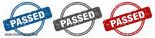 passed stamp. passed sign. passed label set Fototapet