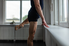 Young Man Training Ballet At S...