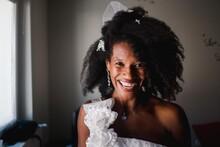 Beautiful Happy Black Bride