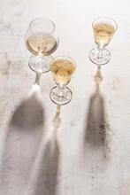 Three Glasses Of French Brandy