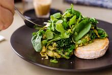 Cafe Breakfast, Green Scramble...