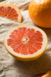 Leinwanddruck Bild - Raw Organic Ruby Red Grapefruit