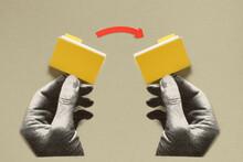 Hands Sharing Folders
