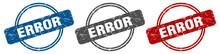 Error Stamp. Error Sign. Error...
