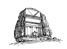 Graphical Hand-drawn Dolmen Is...