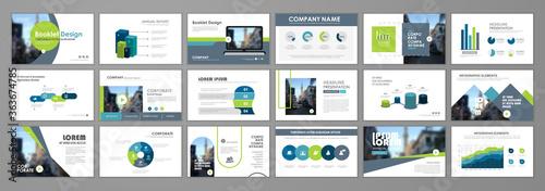 Fototapeta Corporate slideshow templates obraz na płótnie