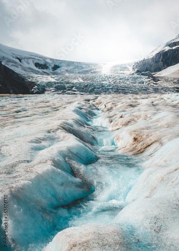 Fotografiet Scenic View Of Glacier