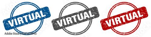 virtual stamp. virtual sign. virtual label set Tapéta, Fotótapéta