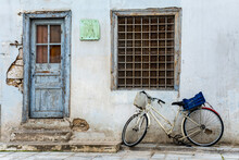 Bicycle Leaning Against Wall O...