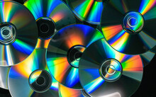 Full Frame Shot Of Compact Discs