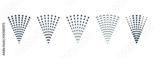 Spray icons set. Fluid, air spray symbol Tapéta, Fotótapéta