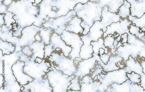 Fototapeta Marble background with inlaid gold. Luxury marble texture.