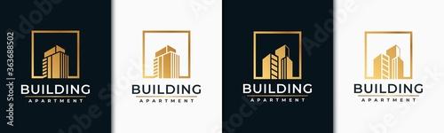 Fotomural building logo design inspiration