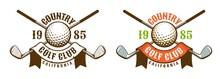 Golf Game Retro Sport Emblem. ...