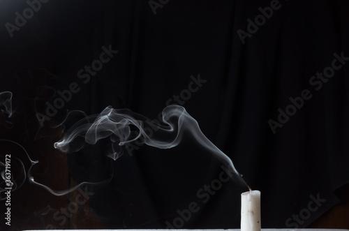 candle smoke arts Canvas-taulu