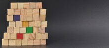 Pile Of Multicolored Wooden Bl...