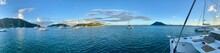 Panoramic View Of Sailboats In...