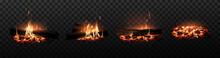 Burning Fire. Firewood, Coals,...