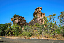 Bhimbetka Rock Shelters - An Archaeological Site In Central India At Bhojpur Raisen (Near Bhopal) In Madhya Pradesh.