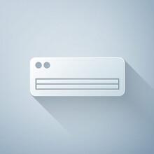 Paper Cut Air Conditioner Icon...