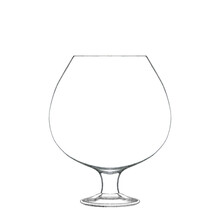 Cognac Glass Isolated On White. Hand Drawn Illustration. Pencil Sketch Of Empty Glassware For Alcohol Drink. Design Element For Bar And Restaurant Menu, Recipes, Flyers.