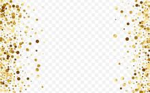 Gold Shine Circle Design. Wedding Confetti