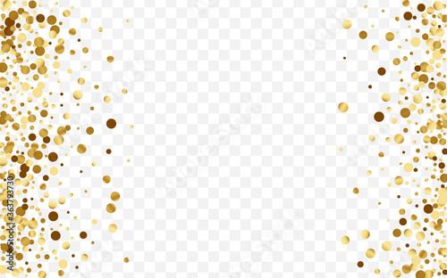 Gold Shine Circle Design. Wedding Confetti Fototapet