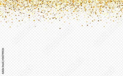 Obraz Yellow Rain Paper Transparent Background. Shiny  - fototapety do salonu