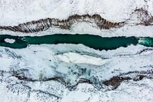 Close-up Of Frozen Lake