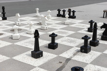 Outdoor Large Chess On The Pla...