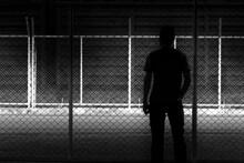 Silhouette Man At Night