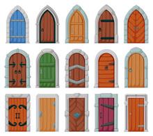 Medieval Door Vector Cartoon S...