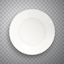 Plate Isolated On Transparent ...