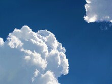 Luffy Clouds On A Background Of Blue Sky