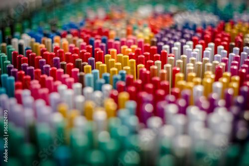Obraz na plátně Close-up Of Multi Colored Pencils