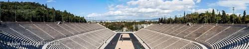 Olympic Panathenaic stadium or kallimarmaro in Athens - panorama Wallpaper Mural